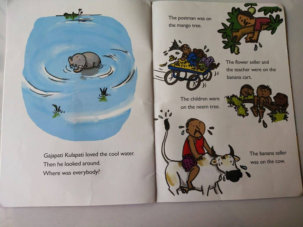 Villagers flew when Gajapati jumped into the water.