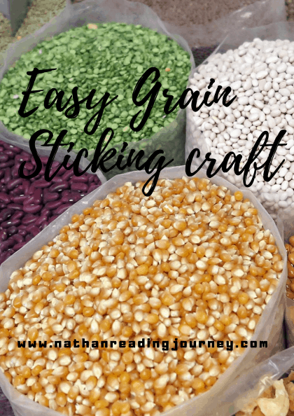 How to make dried grain sticking craft?