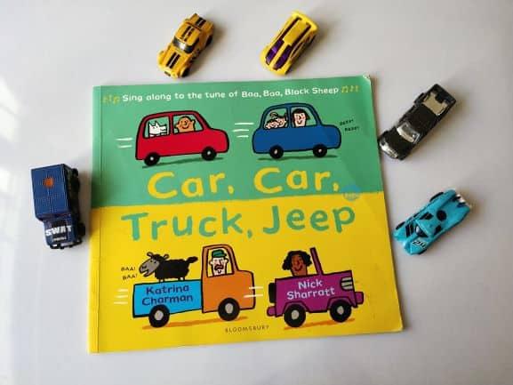 REVIEW: Car, car, truck, jeep by Katrina Charman and Nick sharratt.